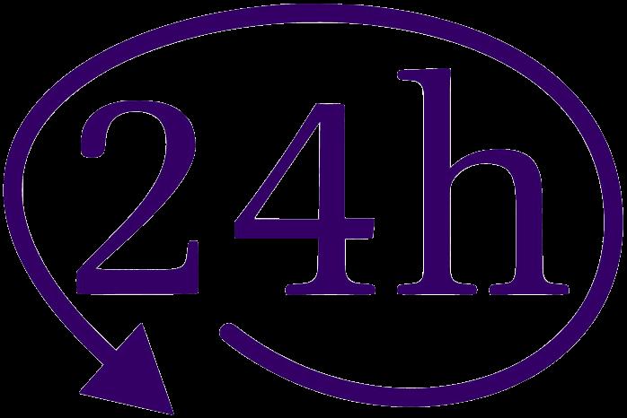 24 Stunden für Sie erreichbar
